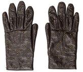 Dolce & Gabbana Leather Grommet-Embellished Gloves