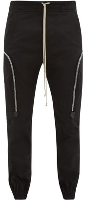 Rick Owens Cotton-blend Twill Cargo Trousers - Black