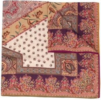 Etro Paisley Silk-Wool Scarf