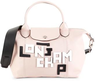 Longchamp Le Pliage Covertible Leather Top Handle Bag