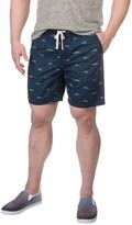 Free Nature Fish Print Twill Shorts (For Men)
