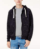 G Star Men's Lettered Zip-Front Hoodie