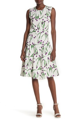I. Madeline Floral Pleated Sleeveless Dress