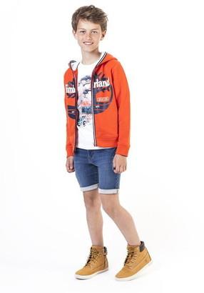 Timberland Kid Boys Orange Hooded Cardigan