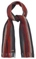 Mantaray Orange Striped Chunky Knit Scarf