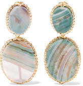 Rosantica Parche Gold-tone Agate Clip Earrings