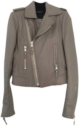 Balenciaga Grey Leather Leather Jacket for Women