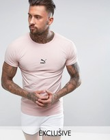 Puma Muscle Fit T-shirt In Pink Exclusive To Asos
