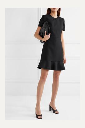 Stella McCartney - Ruffled Wool-blend Dress - Black