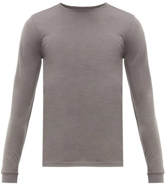 Ashmei - Long-sleeved Wool-blend T-shirt - Mens - Grey
