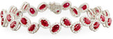 Diana M. Jewels 18k White Gold Ruby & Diamond Bracelet