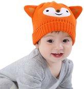 Happy Cherry Baby Boy Girl Toddler Child Kids Fashion Cute Hat Autumn Winter Warm Cotton Knitted Cap Crochet Beanie - 6-9M 44cm