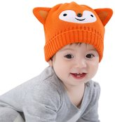 Happy Cherry Baby Boy Girl Toddler Child Kids Fashion Cute Hat Autumn Winter Warm Cotton Knitted Cap Crochet Beanie - 9-12M 46cm