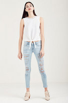 True Religion Casey Super Skinny Ripped Womens Jean