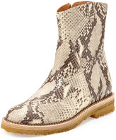 DSQUARED2 Python-Embossed Ankle Boot, Natural