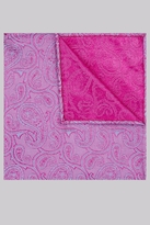 Moss Bros Pink & Blue Paisley Silk Pocket Square