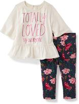 Old Navy 2-Piece Graphic Peplum Tee and Leggings Set for Baby