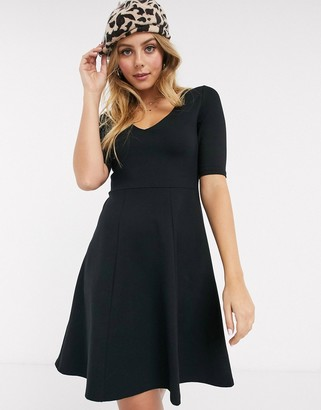 Pimkie jersey a line dress in black