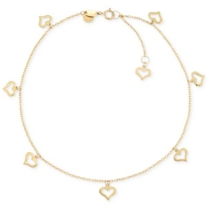 Macy's Heart Charm Anklet in 14k Gold