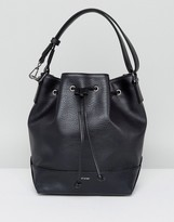 Matt & Nat Drawstring Shoulder Bag In Black