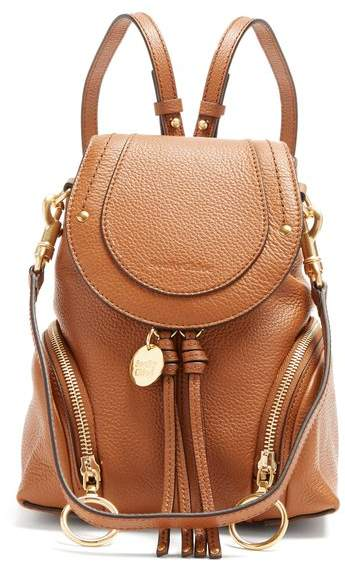 See by Chloe Olga Leather Backpack - Womens - Tan