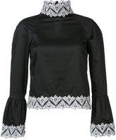 Jonathan Simkhai poplin embroidery blouse - women - Cotton - XS