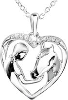 JCPenney FINE JEWELRY ASPCA Tender Voices Diamond-Accent Woman & Horse Heart Pendant Necklace