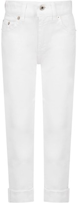 Dondup White ritchie Jeans For Boy With Iconic D
