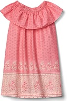 Gap Floral border ruffle dress