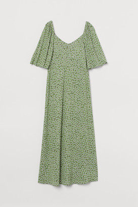 H&M MAMA Jersey Dress - Green