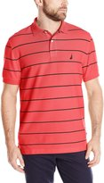 Nautica Men's Short Sleeve Stripe Deck Polo