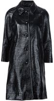 Marc Jacobs single breasted pleather coat - women - Cotton - 2