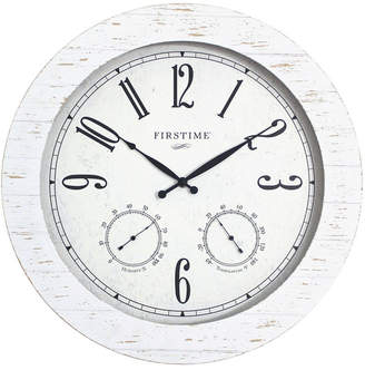 FirsTime & Co. Shiplap Planks Outdoor Clock