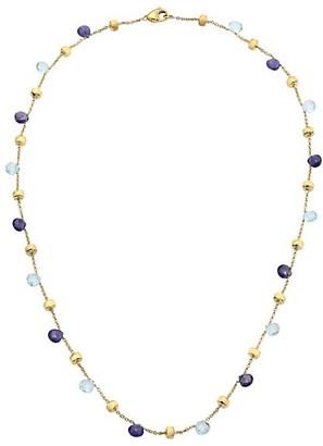 Marco Bicego Paradise Blue 18K Yellow Gold, Blue Topaz & Iolite Short Station Necklace