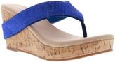 Volatile Women's Sandals BLUE - Blue Wedge Candia Sandal - Women