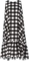 MDS Stripes Ruffle Bottom Dress