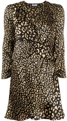 Rixo Leopard Print Mini Dress