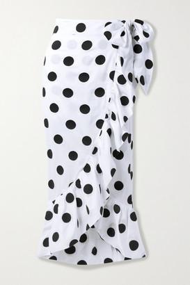 Mara Hoffman + Net Sustain Eaven Polka-dot Organic Cotton Wrap Skirt