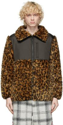Clot Yellow Faux-Fur Leopard Jacket
