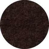 Momeni Rugs LSHAGLS-01BRN400R Luster Shag Collection, Hand Tufted High Pile Shag Area Rug, 4' Round