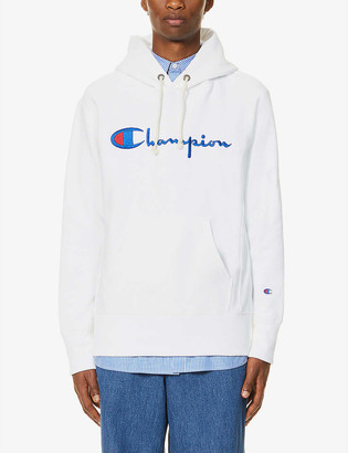 Champion Logo-embroidered cotton-blend hoody