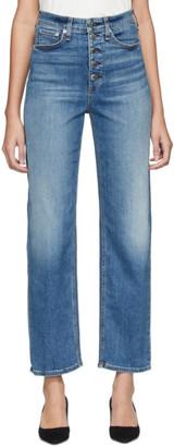 Rag & Bone Blue Jane Super High-Rise Cigarette Jeans