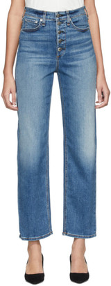 Rag & Bone Blue Jane Super High-Rise Cigarette Jeans