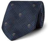 Alexander McQueen 7cm Skull-Jacquard Silk Tie