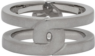 Maison Margiela Silver Brushed Burattato Ring