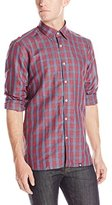 Stone Rose Men's Plaid Linen Shirt
