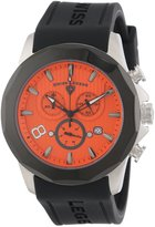 Swiss Legend Men's 10042-06-BB Monte Carlo Chronograph Textured Dial Black Silicone Watch