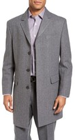 Hart Schaffner Marx Men's Maitland Modern Fit Wool Blend Overcoat