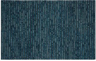 One Kings Lane Sumner Jute-Blend Rug - Teal - dark blue