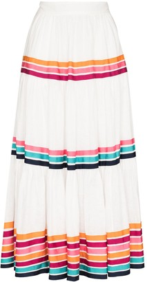 Zimmermann Lulu stripe-pattern midi skirt